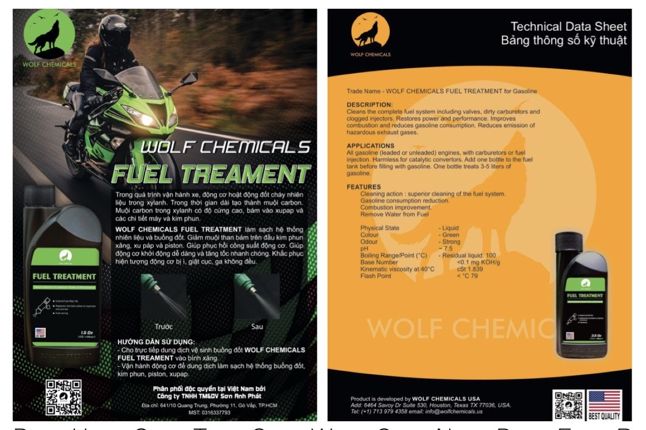 Phụ gia xăng wolf chemicals